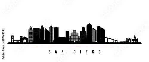 Fotografie, Obraz  San Diego city skyline horizontal banner