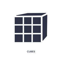 Cubes Icon On White Background. Simple Element Illustration From Kid And Baby Concept.