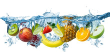 Fresh Multi Fruits Splashing I...