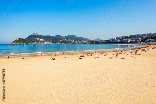 San Sebastian city beach, Spain