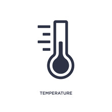 Temperature Measure Icon On Wh...