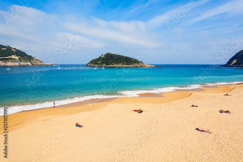 Photographie San Sebastian city beach, Spain