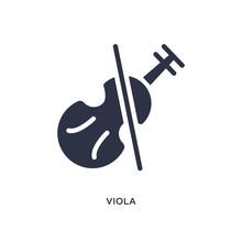 Viola Icon On White Background...