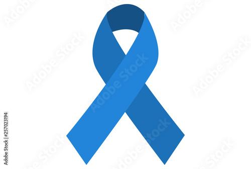 Lazo de color azul sobre fondo blanco. Canvas Print