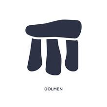 Dolmen Icon On White Backgroun...