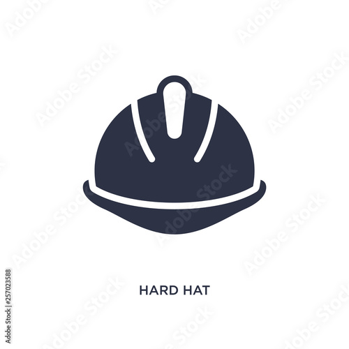 hard hat icon on white background. Simple element illustration from productivity concept. Wall mural