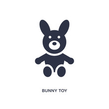 Bunny Toy Icon On White Backgr...