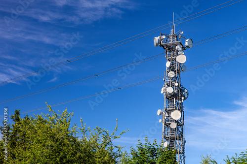 Leinwand Poster Sendemast Antenne