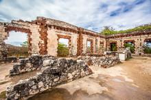 Historic Abandoned Lighthouse Ruins At Aguadilla, Puerto Rico