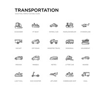 Set Of 20 Line Icons Such As M...