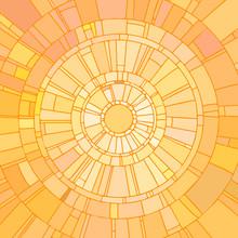 Mosaic Vector Illustration Of Yellow Sunshine.
