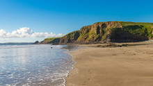 Beach At Druidston Haven Near Haverfordwest In Pembrokeshire, Dyfed, Wales, UK