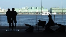 Silhouette Family Waiting In Y...