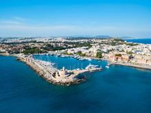 Mandraki Port Rhodes City, Gre...