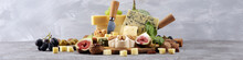 Cheese Plate Served With Figs,...