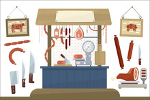 Butcher Shop, Meat Assortment ...