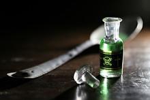 Vintage Glass Bottle Of Poison