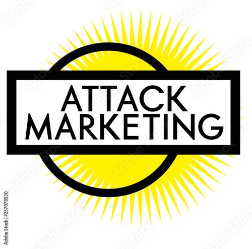 Fotografie, Tablou  Print attack marketing stamp on white