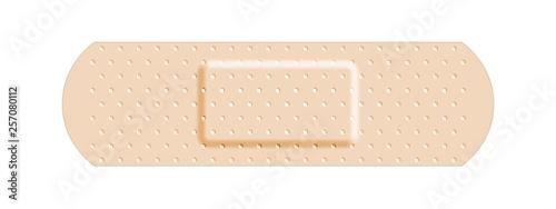Photo Beige adhesive bandage bandaid