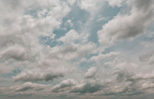 Teal Blue Sky Overlay With Dra...