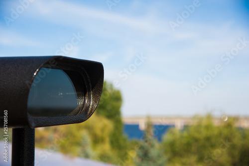 Obraz na płótnie Observation deck with tourist binocular