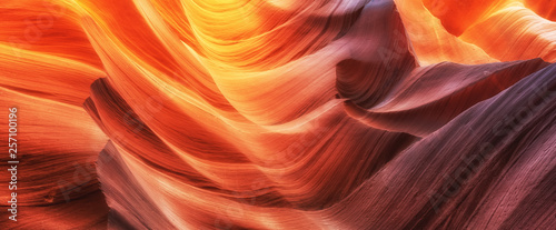 Scenic colorful waves in famous Antelope Canyon, Arizona, USA
