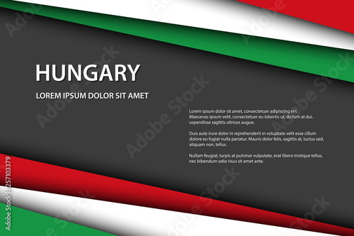Foto Modern vector background, overlayed sheets of paper in the look of the Hungarian