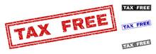 Grunge TAX FREE Rectangle Stam...