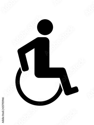 piktogramm behinderung rollstuhl gehen laufen sitzen rollen