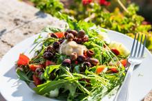 Closeup Of Arugula Salad With ...