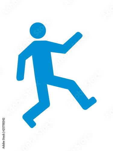 Fotografie, Obraz  glücklich springen gehen spaß freuen laufen piktogramm wach fit fröhlich freude