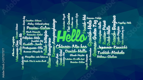 Hello word Cloud, concept illustration - Buy this stock