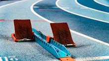 Athletics Starting Blocks On R...