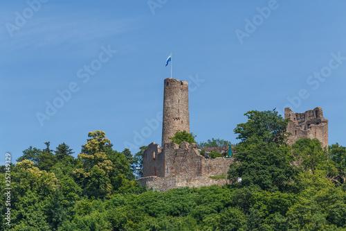 Vászonkép  Ruins of the medieval Windeck castle in Weinheim town, Germany