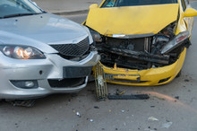Two Cars Crashed