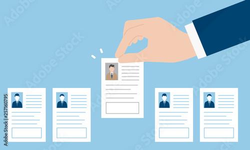 Obraz na plátně 履歴書、求人のイメージ
