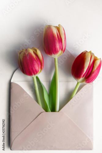 Kwiaty w kopercie. Canvas-taulu