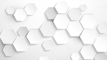 Abstract White Hexagon Backgro...