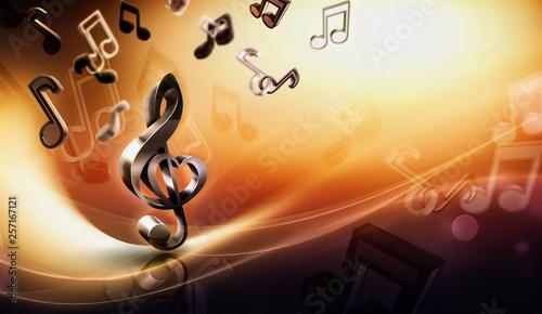 Obraz abstract music background - fototapety do salonu