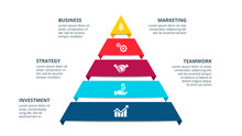 Vector Pyramid Infographic Wit...