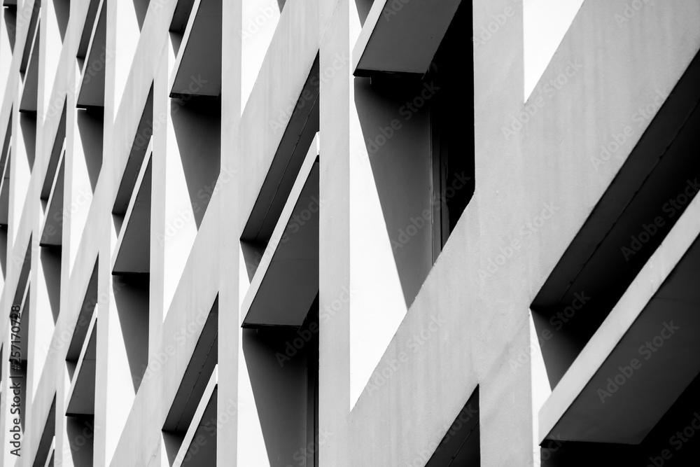 Obraz Abstract background architecture lines. modern architecture detail fototapeta, plakat