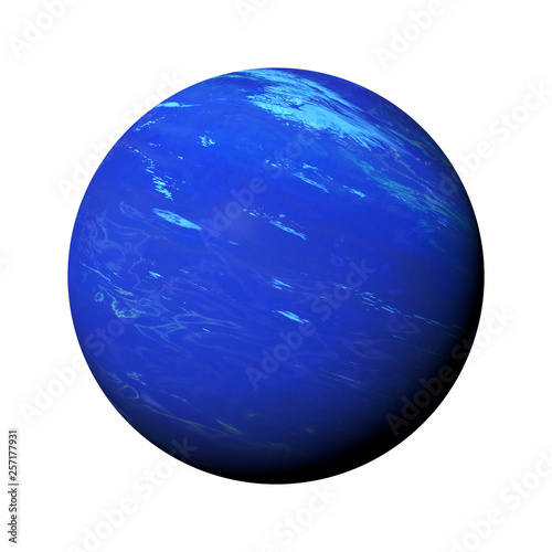 Fotografie, Obraz planet Neptune isolated on white background, part of the solar system
