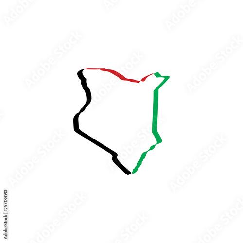 kenya map icon vector symbol element Wall mural