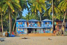 Colorful Hotels In Palolem Beach, Goa.