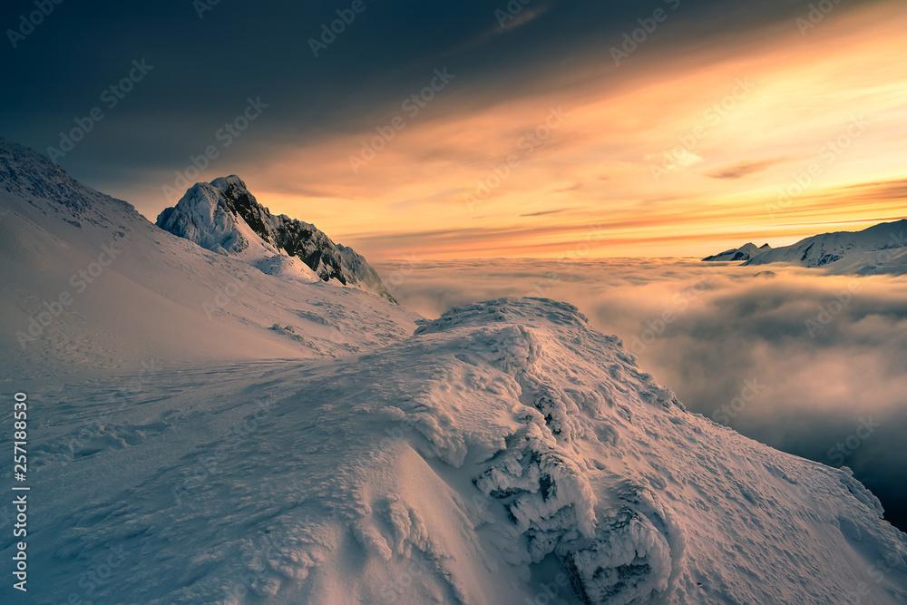 Fototapety, obrazy: Giewont peak in the Tatra mountain.