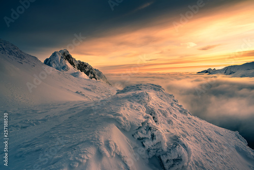 Fototapeta Giewont peak in the Tatra mountain. obraz