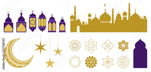 Fotomural Islamic ornaments, symbols and icons