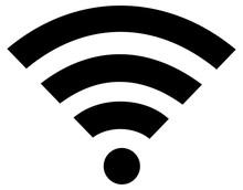 Wifi Or Wi-fi Wireless Flat Ic...