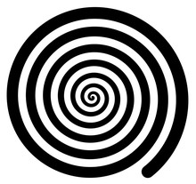 Hypnotic Spiral Background Spinning Rotating Retro Isolated