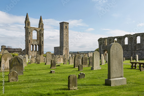 St. Andrews Cathedral in St. Andrews, Scotland. Wallpaper Mural